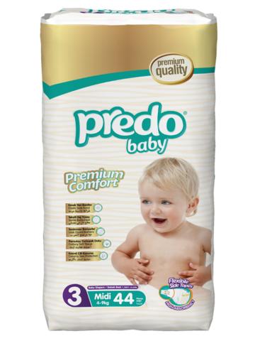 Predo. Подгузники Baby Преимущественная пачка № 3 (4-9 кг Mini), 44 шт.