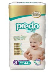 Predo. Подгузники Baby Преимущественная пачка № 3 (4-9 кг Mini), 44 шт. вид 1