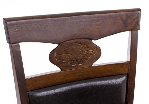 Стул деревянный кухонный, обеденный, для гостиной Кресло Luiza dirty oak / dark brown 52*52*95 Орех дерево /Коричневый