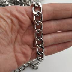Цепь металлическая 12*16 мм, под никель (цена за 1 м)