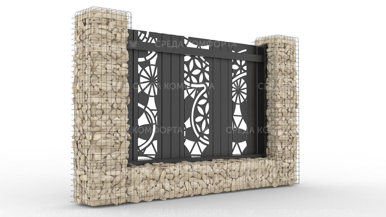 Забор из профлиста 2500х2000 мм ZBR0034 (ворота)