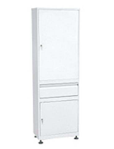 Медицинский шкаф (ШММ-1-Р-1) ШММ-1 с регулируемыми опорами с выдвижным ящиком - фото