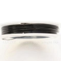 Тросик ювелирный 0,45 мм (цвет - черный) примерно 10 метров