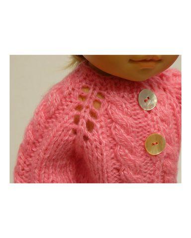 Вязаный жакет, рейтузы и шапочка - Детали. Одежда для кукол, пупсов и мягких игрушек.