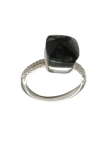 33317 - Кольцо Caramel из серебра с серым кварцем и фианитами