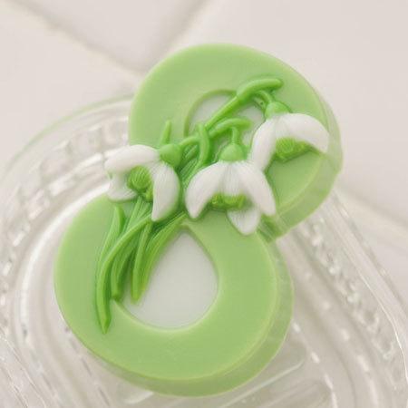 Пластиковая форма для мыла Подснежники