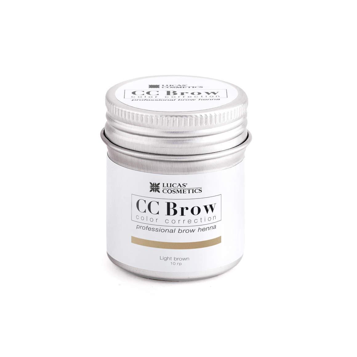 Хна для бровей CC Brow 10гр в баночке Light Brown светло-коричневый