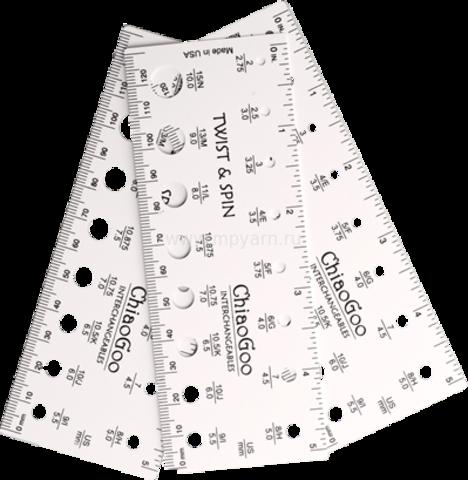 Линейка для определения размера спиц (2,75 мм - 10 мм)