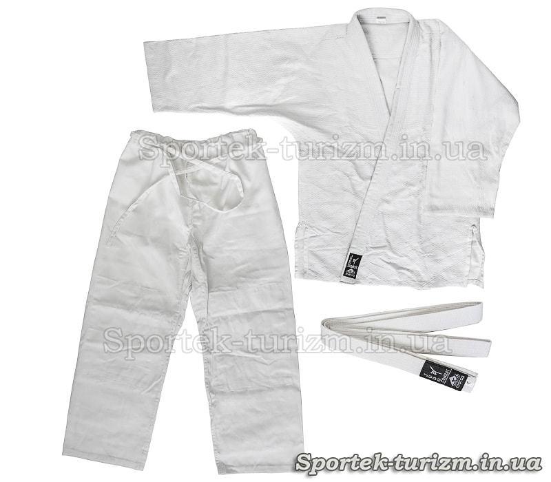 Кімоно COMBAT для дзюдо (100% бавовна, білий, зріст 110, 120, 130, 140, 150, 160, 170, 180, 190 см)