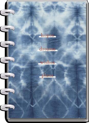 Ежедневник 12 Months - Mini Vertical Happy Planner -  Indigo Tie Dye  - 12,5х18см