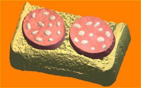 Бутерброт с колбасой. Форма для мыла пластиковая