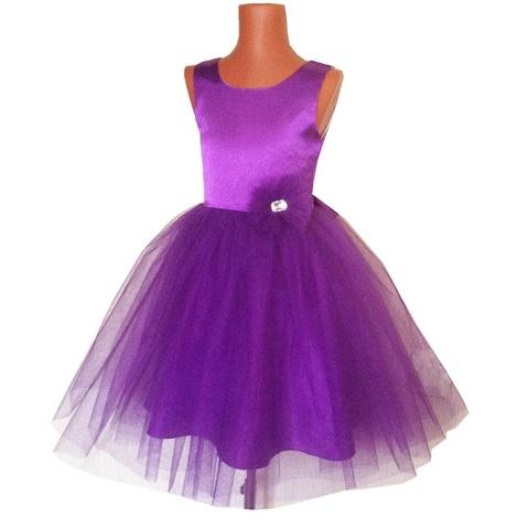 Платье пышное фиолетовое для малышек