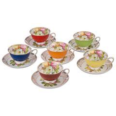 Чайный набор из фарфора на 6 персон 275-840
