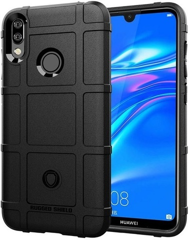 Чехол Huawei Y7 2019 (Y7 Pro, Y7 Prime) цвет Black (черный), серия Armor, Caseport