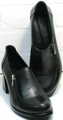 Красивые черные туфли для женщин за 50 осень весна H&G BEM 107 03L-Black.