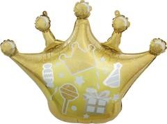 К Фигура, Корона, Сверкающие искры, Золото, 30