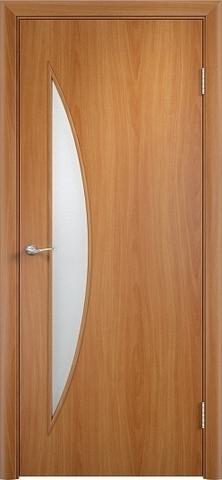 Дверь Сибирь Профиль Луна (С-6), цвет миланский орех, остекленная