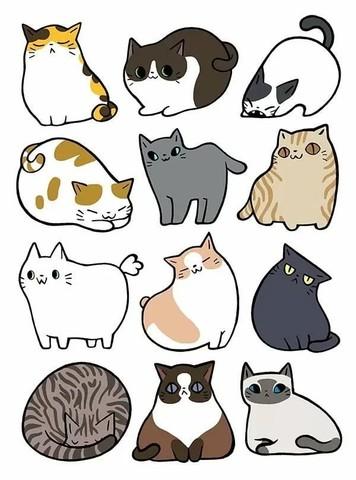 Печать на вафельной бумаге, Набор Кошки 2