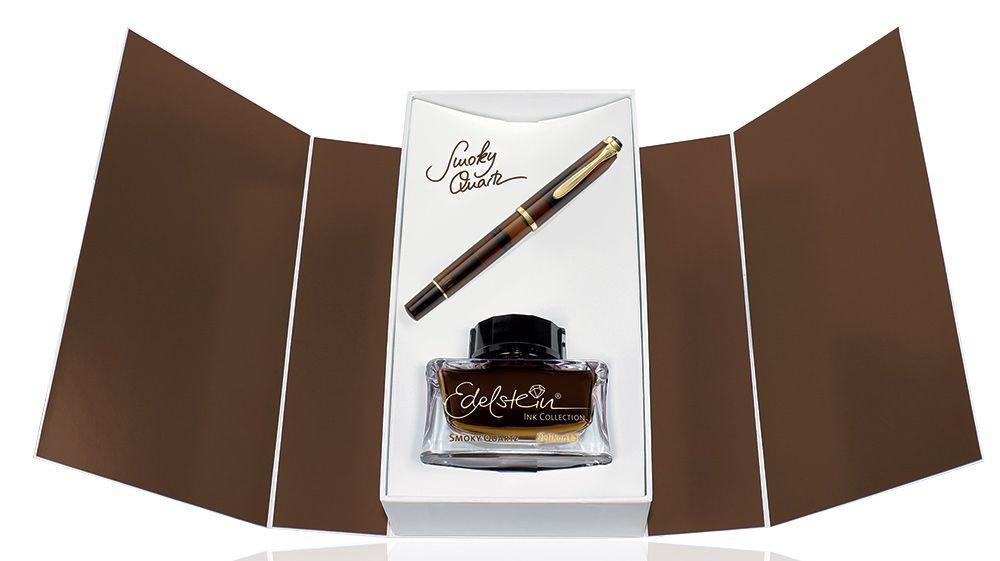 Набор Pelikan Elegance Classic - Smoky Quartz, перьевая ручка, M + чернила (флакон)