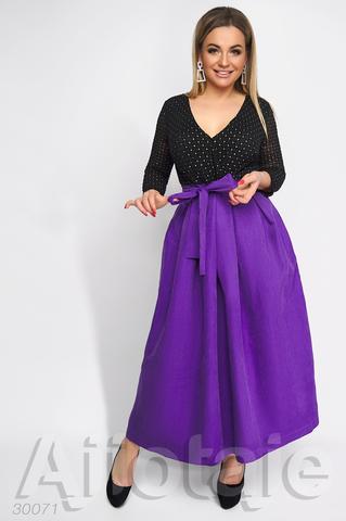 Платье макси с объемной юбочкой