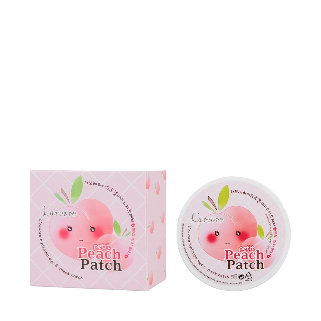 Гидрогелевые патчи для глаз L'arvore Hydrogel Eye & Cheek Petit Peach Patch