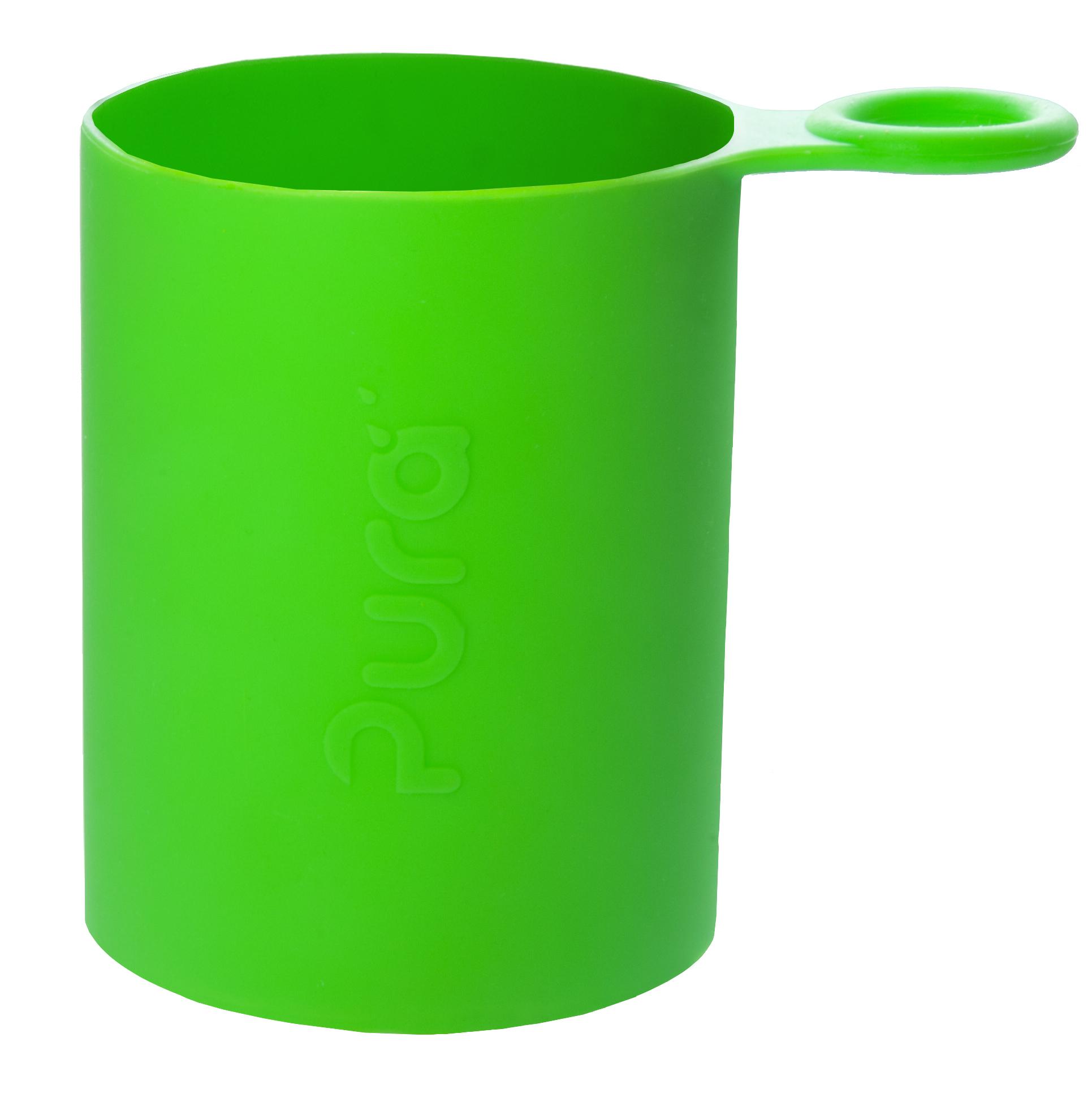 Силиконовый чехол для бутылочки PURA (зеленый)