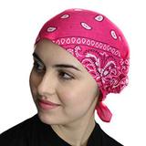 Темно-розовая бандана на голову фото
