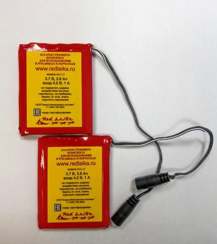 Дополнительный комплект аккумуляторов для рукавиц с подогревом RedLaika RL-P-03, 2 шт