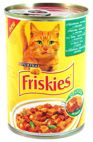 Friskies Консервы с кроликом,печенью и овощами для кошек 400 г