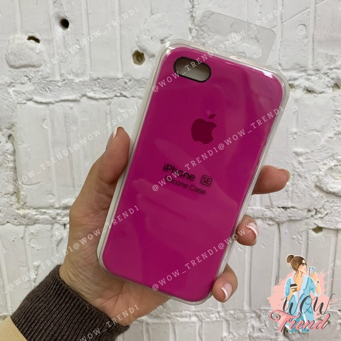Чехол iPhone 6/6s Silicone Case /dragon fruit/ тёмная фуксия 1:1