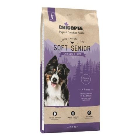Chicopee CNL Soft Senior Chicken & Rice полувлажный корм для пожилых собак всех пород старше 7 лет с курицей и рисом, 15 кг.