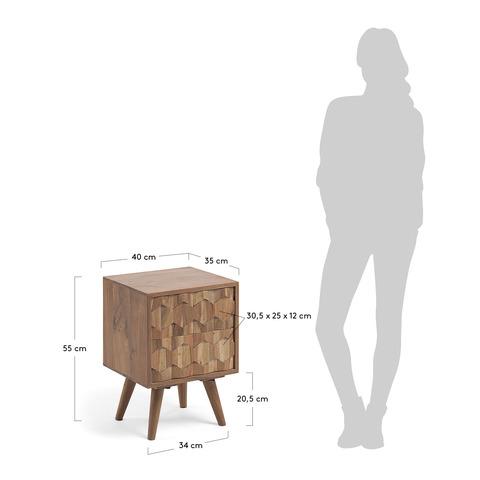 Тумбочка прикроватная Khaleesi 40 x 55 см