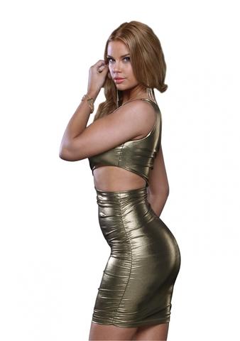 Платье c открытым плечом ONE SHOULDER DRESS METALLIC L 883725-METALLIC-L