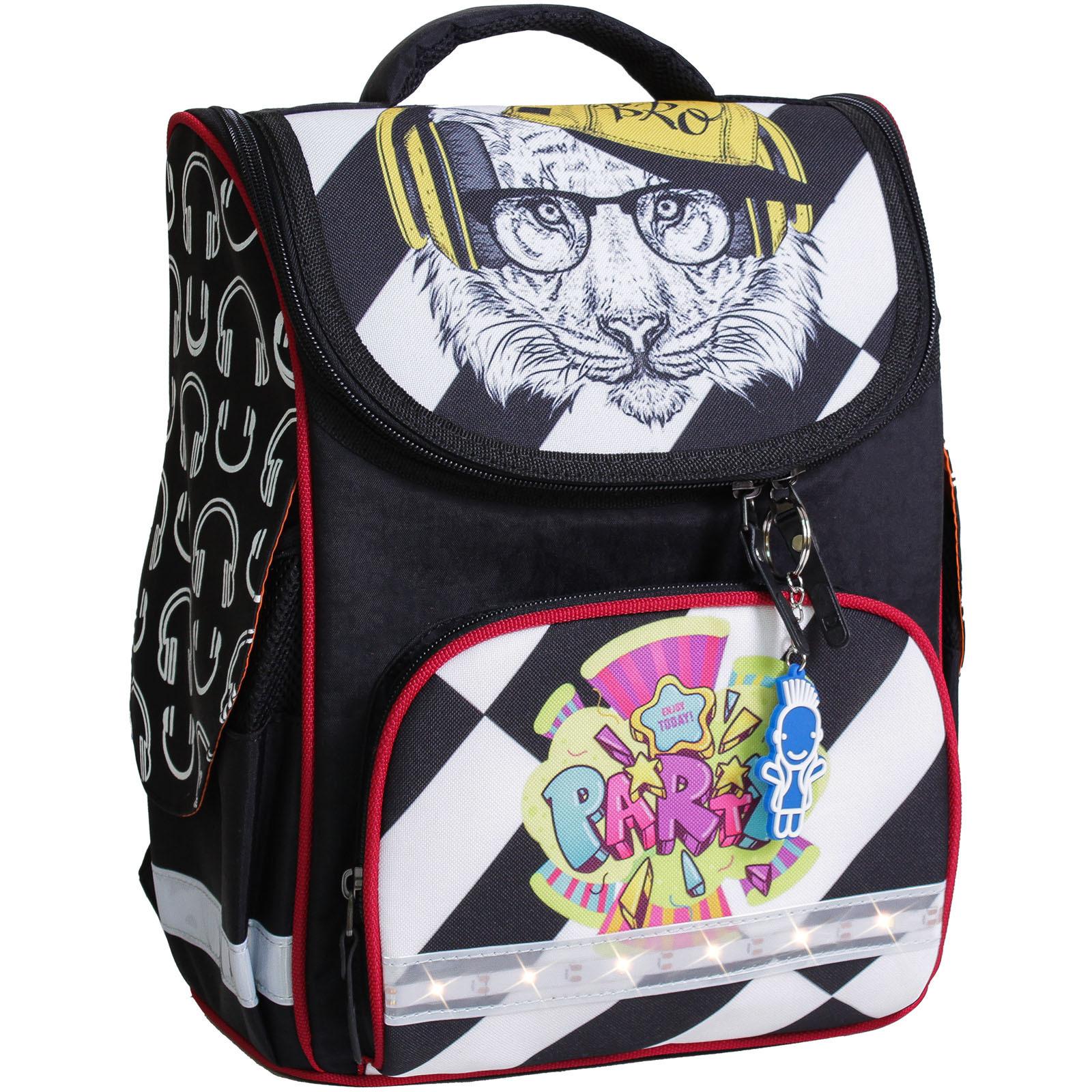 Школьные рюкзаки Рюкзак школьный каркасный с фонариками Bagland Успех 12 л. черный 175k (00551703) IMG_8042-1600.jpg