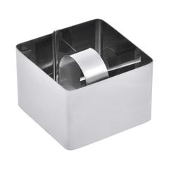Форма с прессом для выкладки салатов и гарниров, квадратная 8х8х4 см