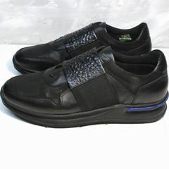 Лучшие кроссовки для повседневной носки мужские Luciano Bellini 1087 All Black