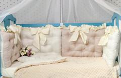 Комплект постельного белья для новорождённых Бусинка 10-01 Крем-кофе