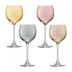 Набор из 4 бокалов для вина Polka 400 мл металлик, фото 1