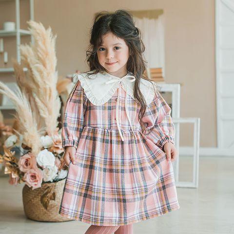 Check flannel dress - Rose Quartz