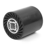 Барабан MESSER тип RZ резиновый для шлифовального рукава (закрытый паз) 90х100х19мм