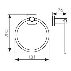 Полотенцедержатель круглый KAISER Vera KH-1701 схема