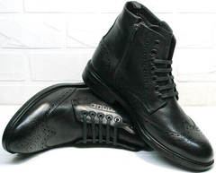 Стильные мужские зимние ботинки инспектор Luciano BelliniBC3801L.