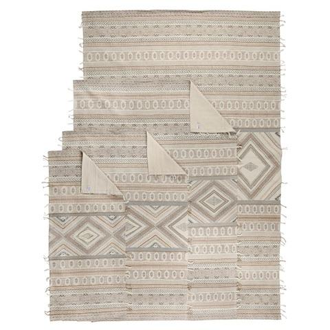Ковер из хлопка, шерсти и джута с геометрическим орнаментом из коллекции Ethnic