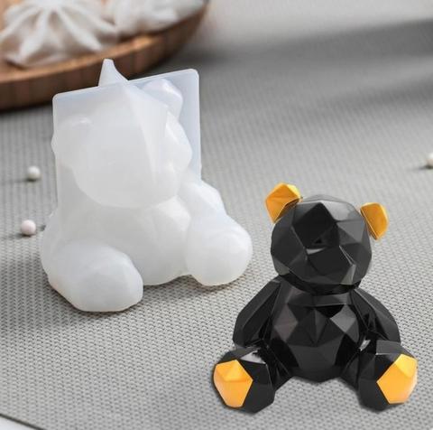 Силиконовый молд Медвежонок 3D, 6.5*5.8см
