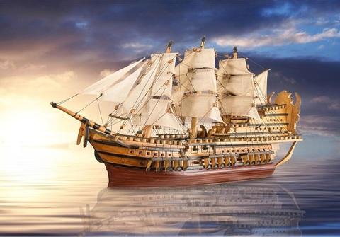 Алмазная Мозаика 20x30 Большой корабль в море (арт. MTC3594)
