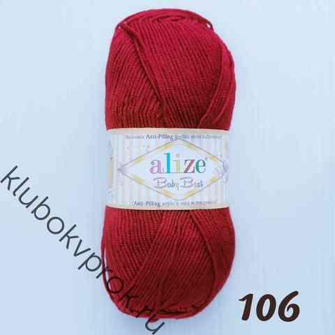ALIZE BABY BEST 106, Темный красный