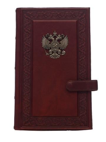 Визитница настольная «Империя 3». Цвет коричневый