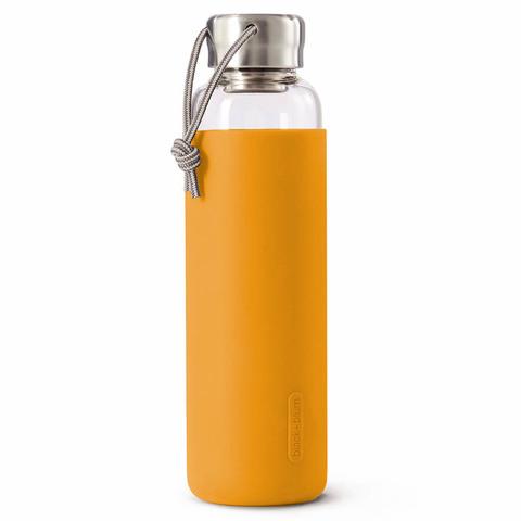 Бутылка для воды black+blum, 600 мл, стекло, оранжевая