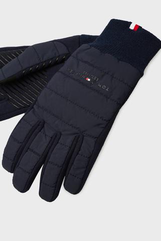 Мужские темно-синие перчатки TH ESTABLISHED MIX Tommy Hilfiger