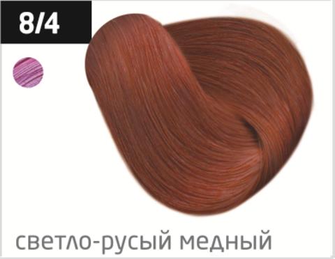 OLLIN performance 8/4 светло-русый медный 60мл перманентная крем-краска для волос